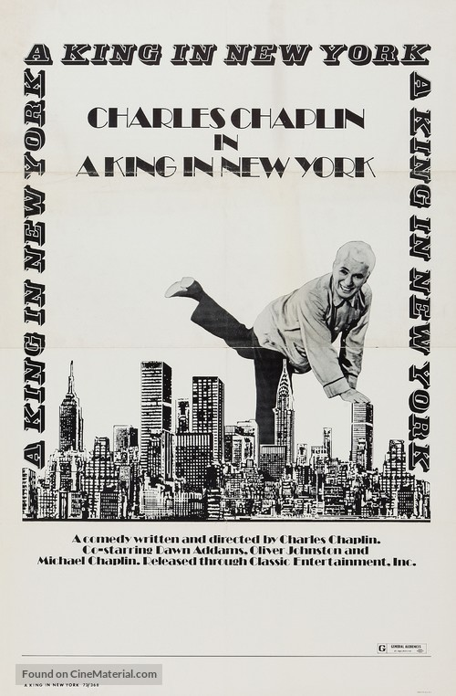 A King in New York - Re-release poster
