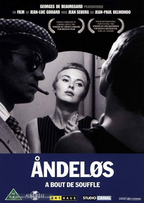 À bout de souffle - Danish DVD movie cover
