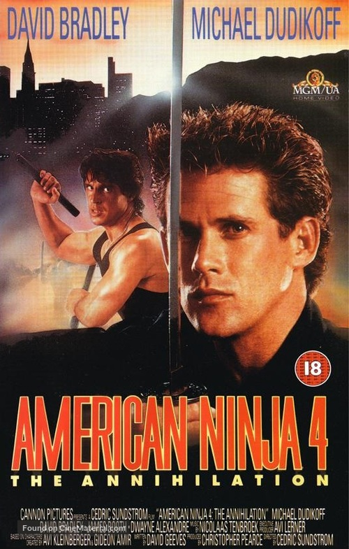 American Ninja 4: The Annihilation - British VHS cover