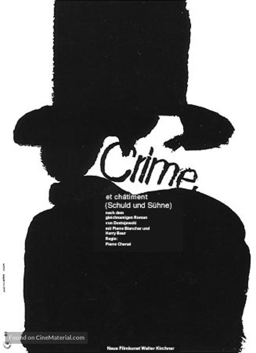Crime et châtiment - German Movie Poster