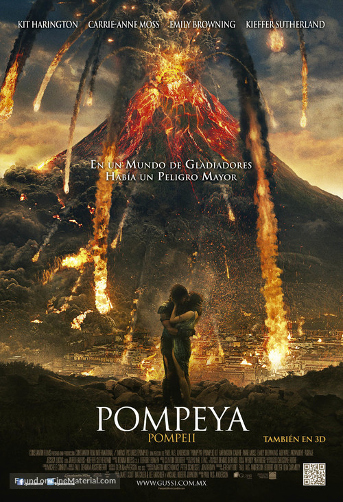 Pompeii - Mexican Movie Poster