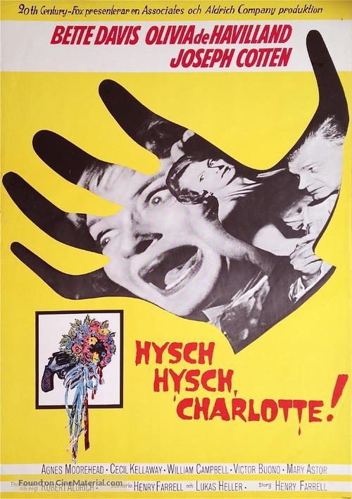 Hush... Hush, Sweet Charlotte - Swedish Movie Poster