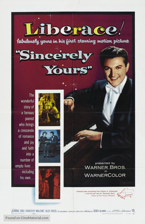 Sincerely Yours - Movie Poster