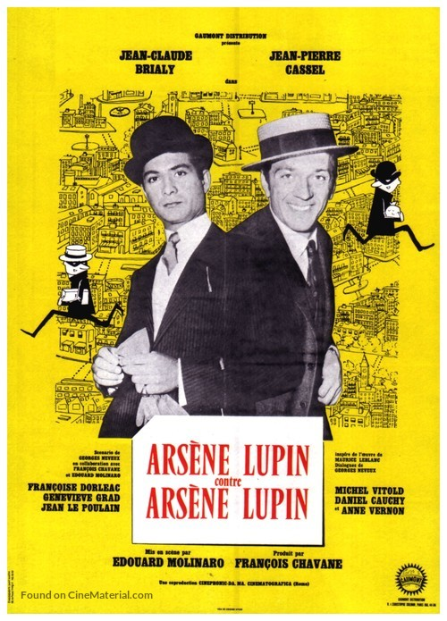 Arsène Lupin contre Arsène Lupin - French Movie Poster