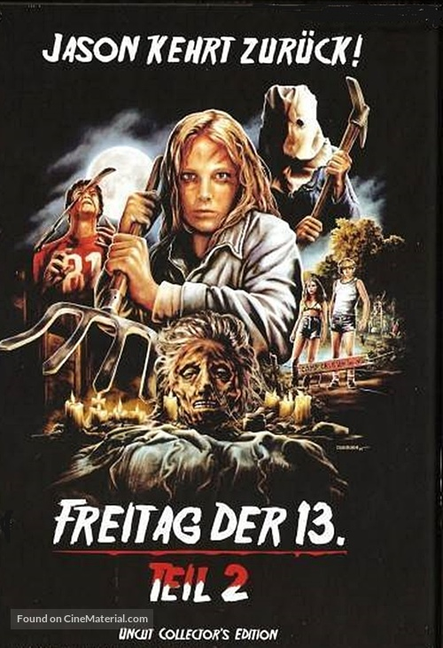 Friday the 13th Part 2 - German Blu-Ray movie cover