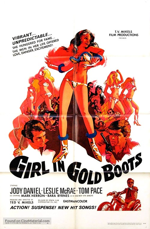Girl in Gold Boots - Movie Poster