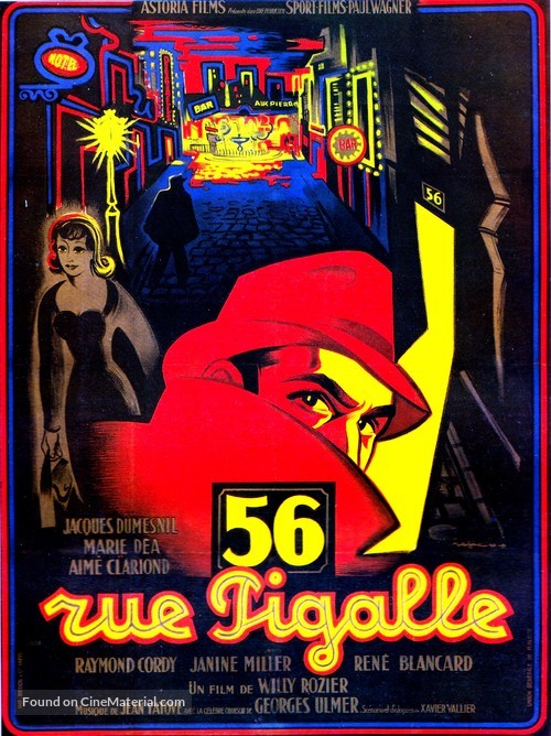 56, rue Pigalle - French Movie Poster