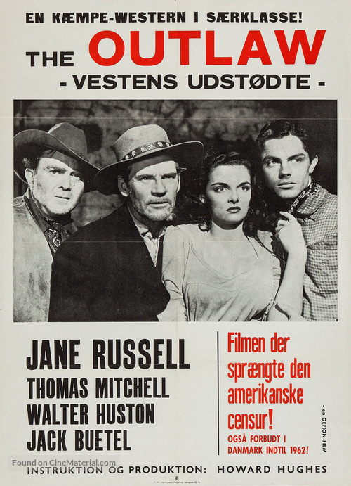 The Outlaw - Danish Movie Poster