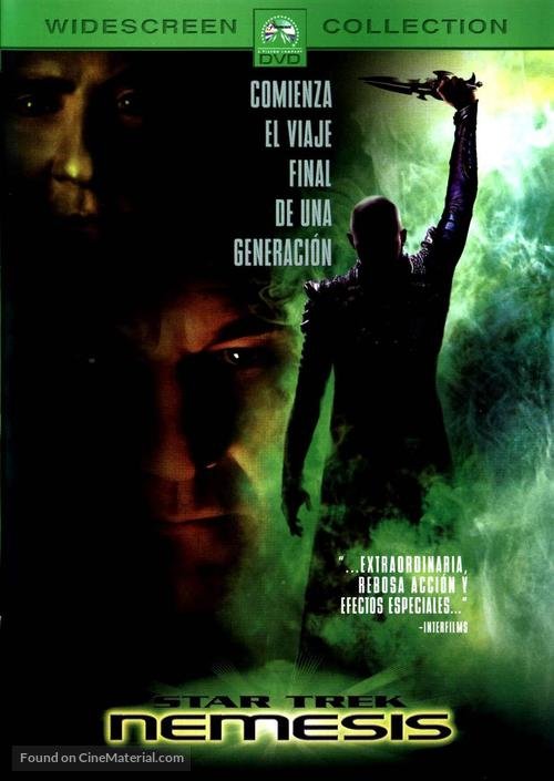Star Trek: Nemesis - Spanish DVD cover
