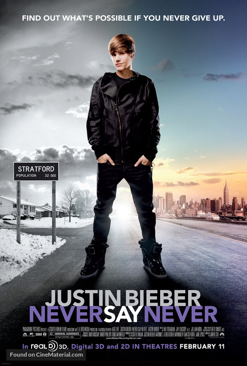 Justin Bieber: Never Say Never - Movie Poster