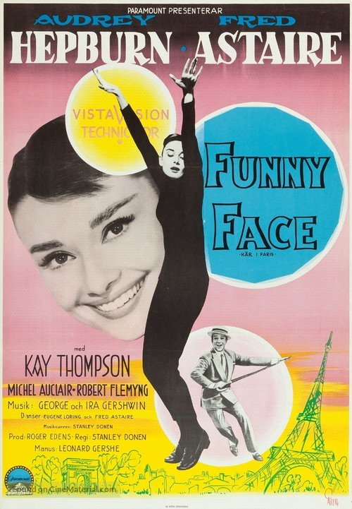 Funny Face - Swedish Movie Poster