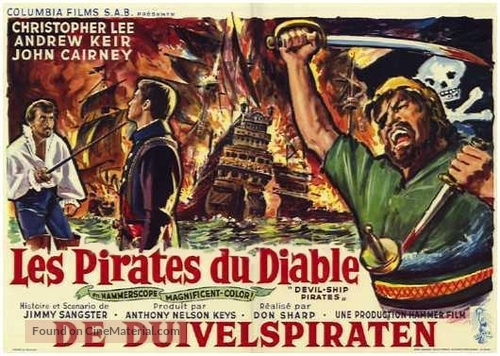 The Devil-Ship Pirates - Belgian Movie Poster