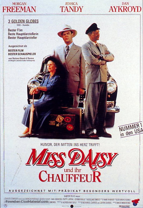 Driving Miss Daisy - German Movie Poster