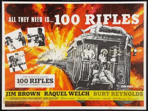 100 Rifles - British Movie Poster