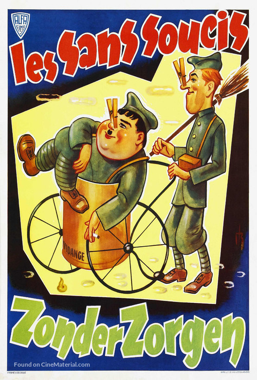 A Chump at Oxford - Belgian Movie Poster