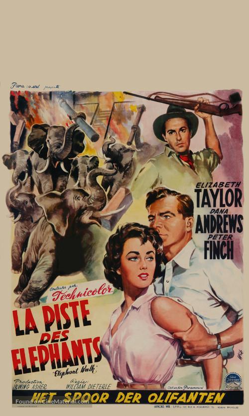 Elephant Walk - Belgian Movie Poster