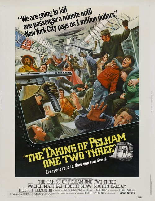 The Taking of Pelham One Two Three - Movie Poster