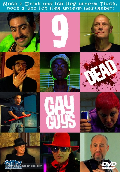 9 Dead Gay Guys - German DVD movie cover