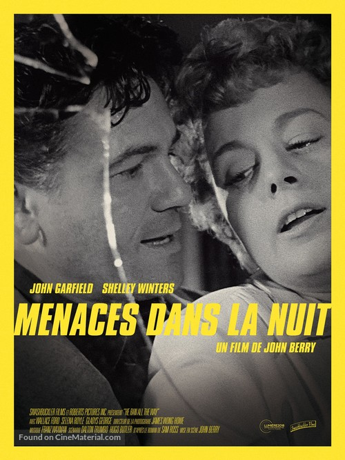 He Ran All the Way - French Re-release poster
