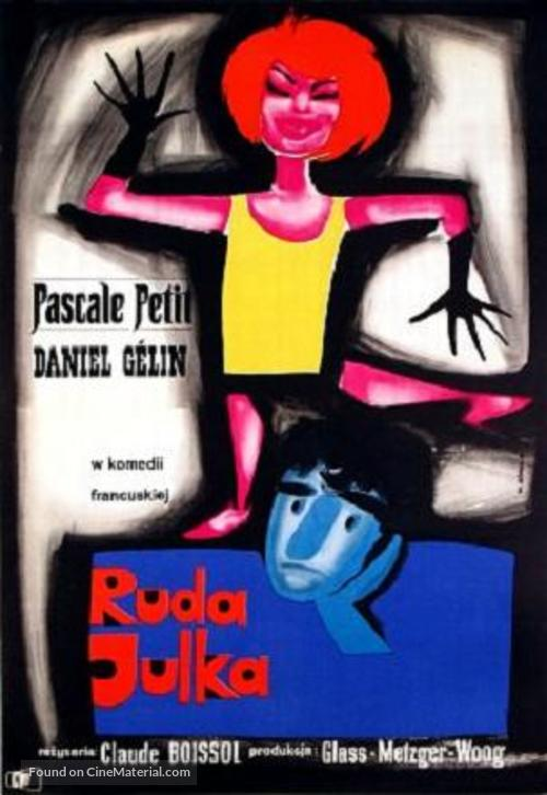 Julie la rousse - Polish Movie Poster