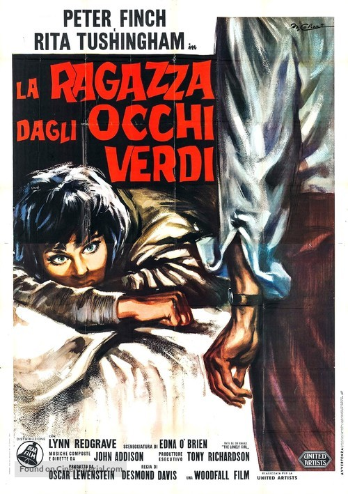 Girl with Green Eyes - Italian Movie Poster