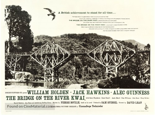 The Bridge on the River Kwai - British Movie Poster