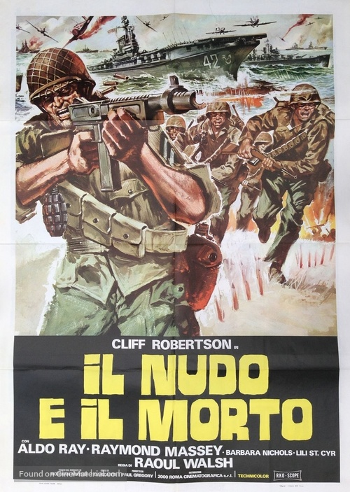 The Naked and the Dead - Italian Movie Poster