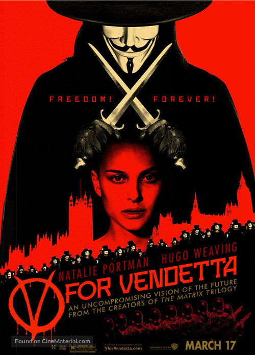 V For Vendetta - Movie Poster