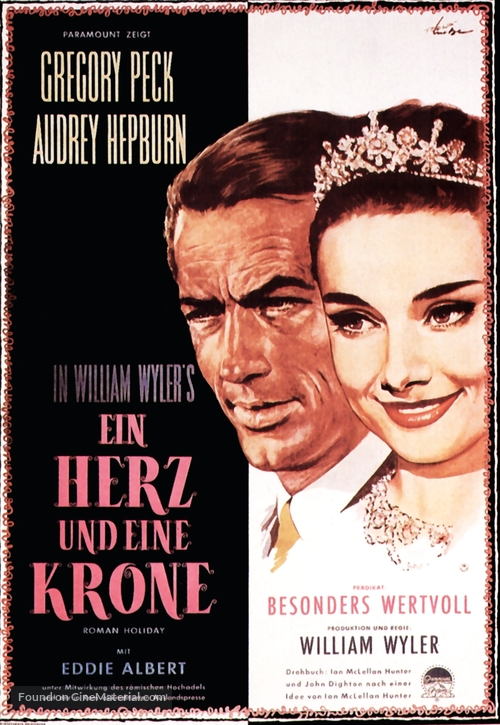 Roman Holiday - German Movie Poster
