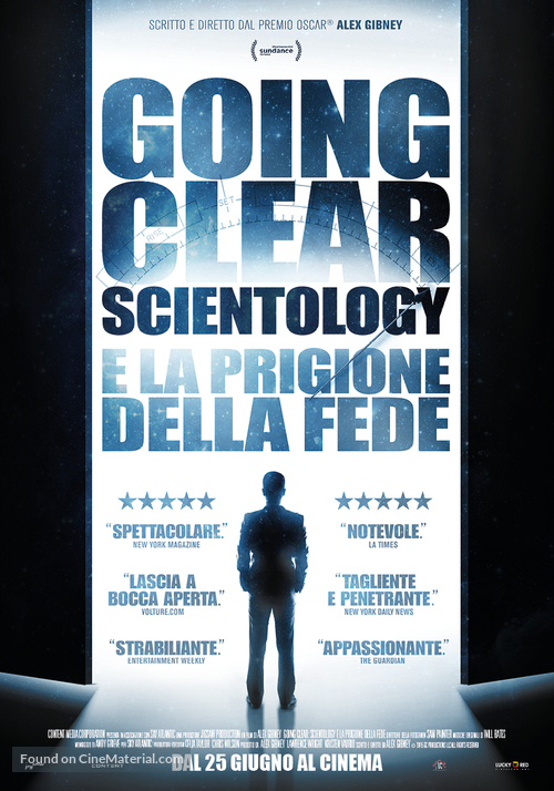 going clear scientology and the prison of belief italian movie poster