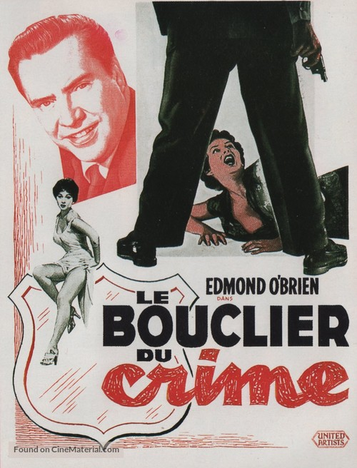 Shield for Murder - French Movie Poster