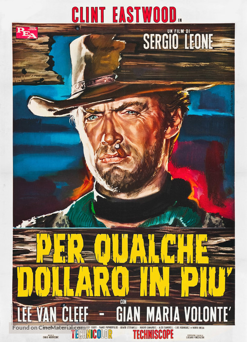 Per qualche dollaro in più - Italian Movie Poster