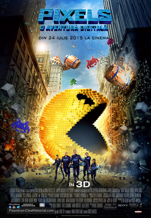 Pixels - Romanian Movie Poster