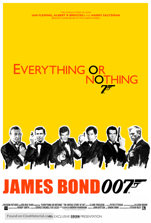 Everything or Nothing: The Untold Story of 007 - British Movie Poster