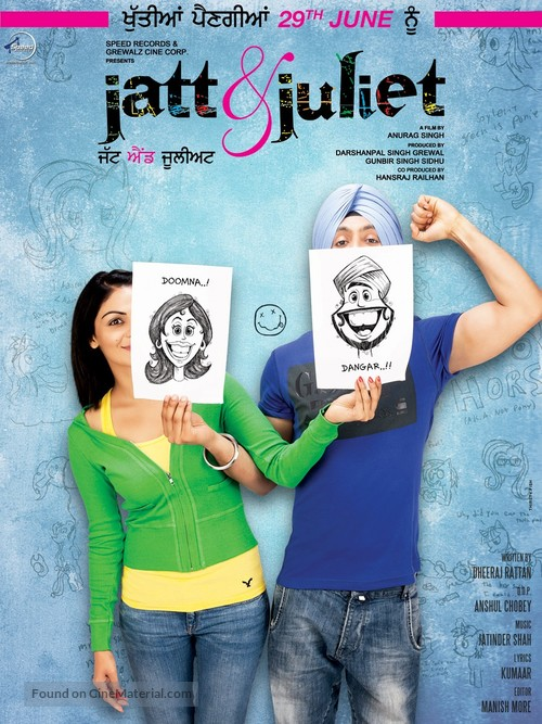 Image result for jatt and juliet poster