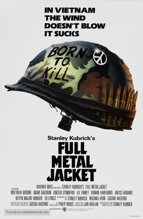 Full Metal Jacket - Theatrical movie poster