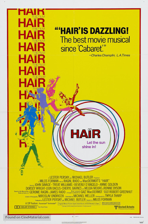 Hair - Theatrical movie poster