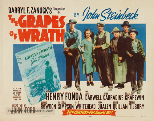 The Grapes of Wrath (1940) re-release movie poster