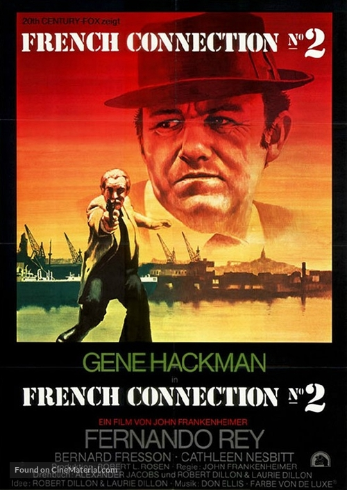 French Connection II - German Movie Poster