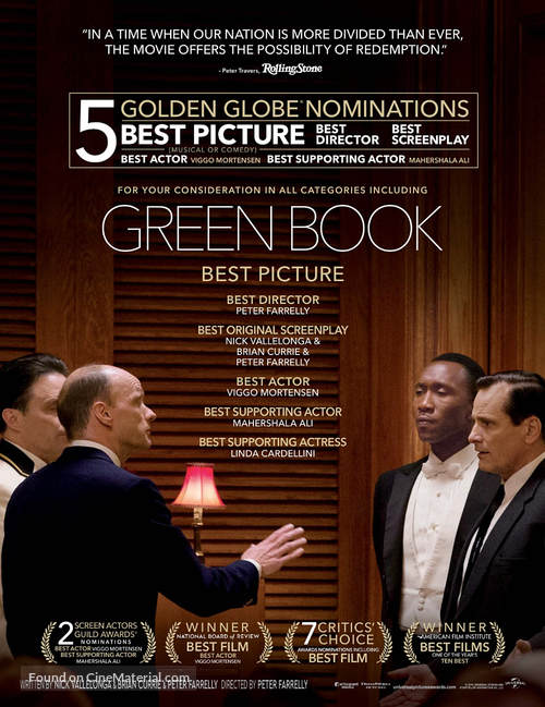 Green Book for your consideration poster  Green Book for ...