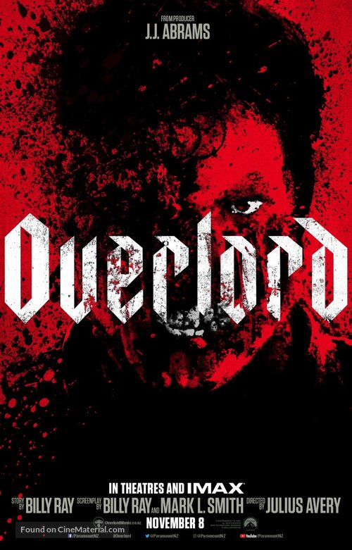 Overlord - New Zealand Movie Poster