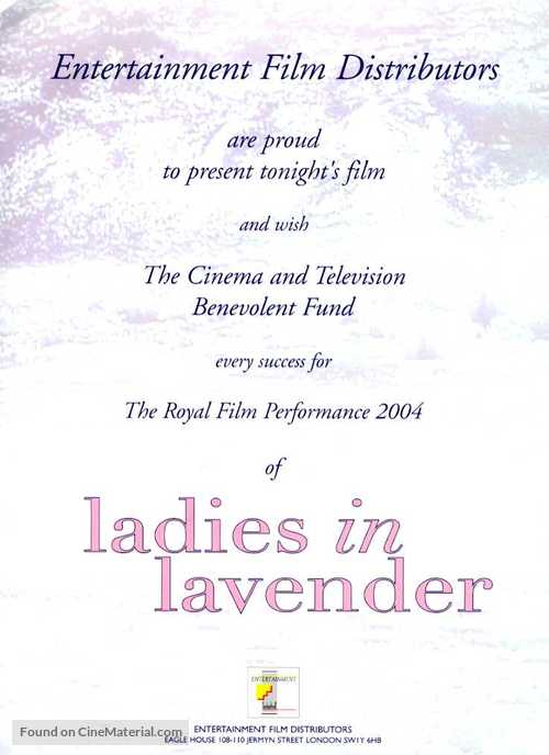 Ladies in Lavender - Movie Poster