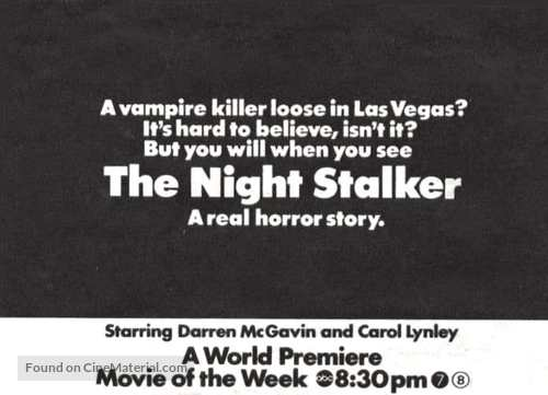 The Night Stalker - poster