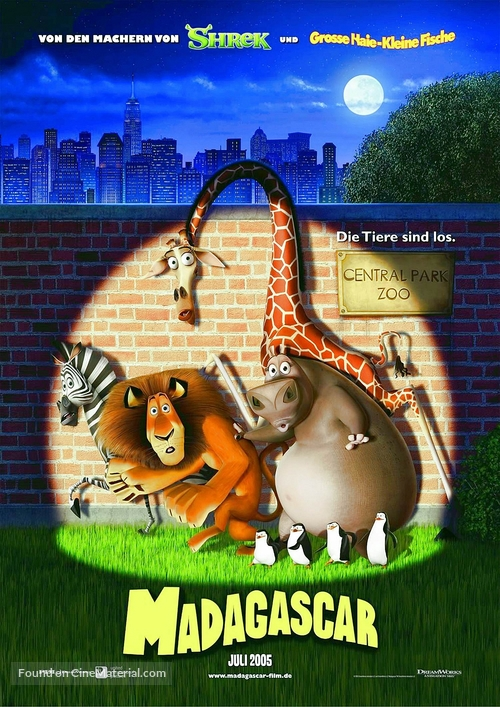 Madagascar - German Movie Poster