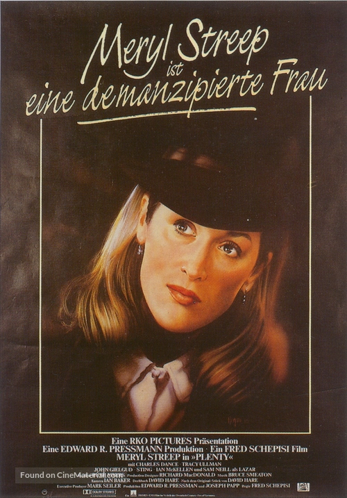 Plenty - German Movie Poster
