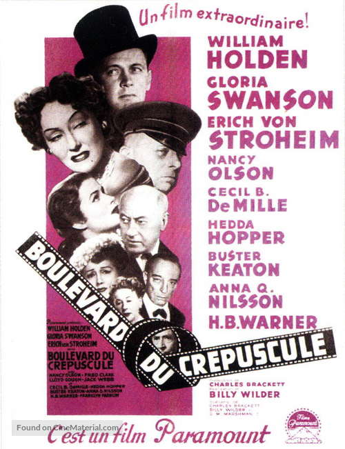 Sunset Blvd. - French Movie Poster
