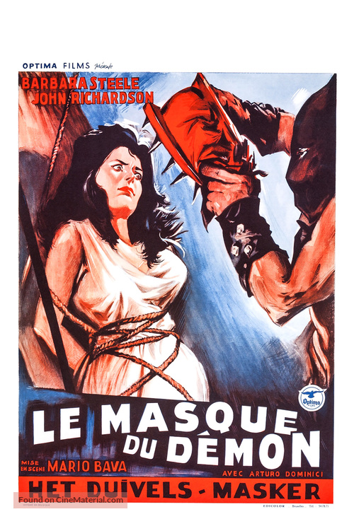 La maschera del demonio - Belgian Movie Poster