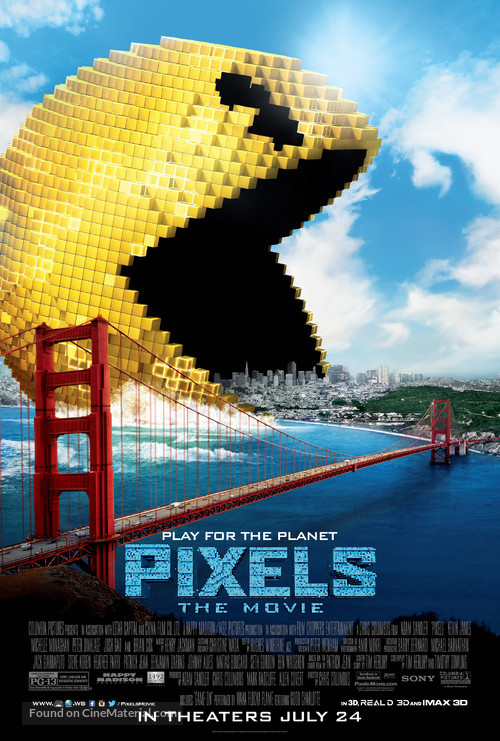 Pixels - Theatrical movie poster