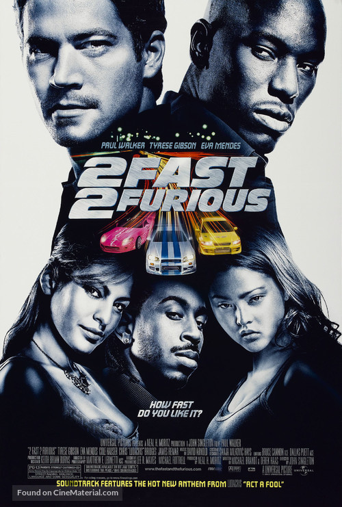 2 Fast 2 Furious - Movie Poster