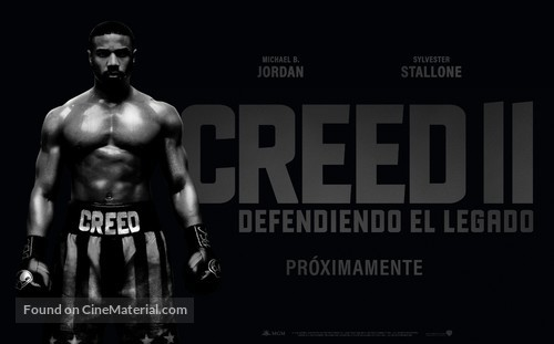 Creed II - Argentinian Movie Poster